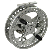 "RAVEN MATRIX FULLY PORTED CENTERPIN REEL, 4-3/4"", TITANIUM"